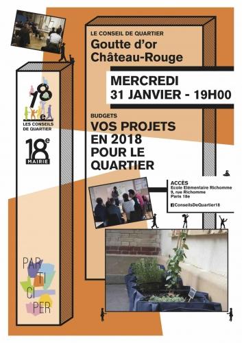 paris,paris 18e,démocratie locale,conseils de quartier,budget-participatif,goutte d'or,château rouge