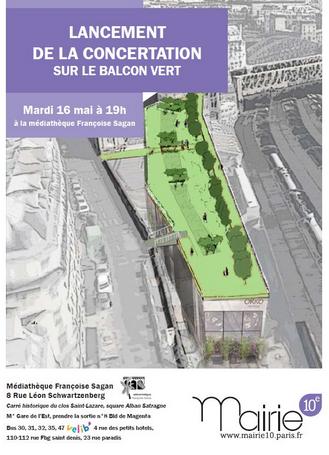 paris, paris 10e, balcon-vert, gare de l'est