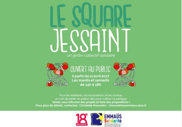 paris,paris 18e,emmaüs-solidarité,square jessaint,jardinage