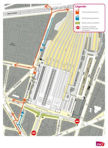 paris,paris-10e,gare-du-nord,sncf,rue-de-dunkerque,voirie,circulation
