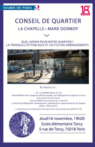 paris,paris 18e,conseil de quartier,chapelle-marx-dormoy,espace public