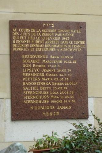 paris,10e,guy-patin,rothschild,casip,rafle,vichy,10-février-1943,juifs,klarsfeld