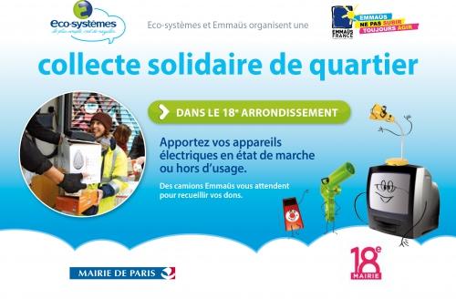 paris,paris 18e,emmaüs,emmaüs-solidarité,propreté,environnement,recyclage
