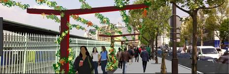 paris,paris 10e,caserne-château-landon,promenade urbaine,place jan karski,réseau express vélo