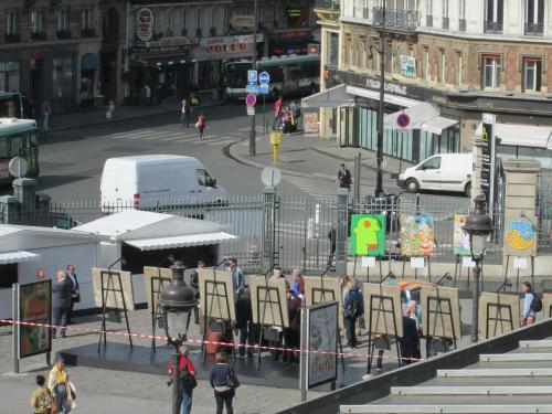 gare de l'est, street art, inauguration, exposition