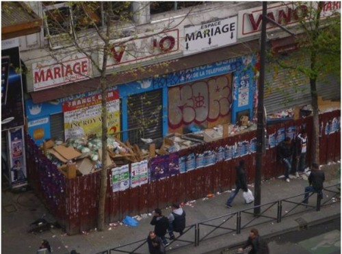 Paris,Vano,palissades,18e,propreté,affiches