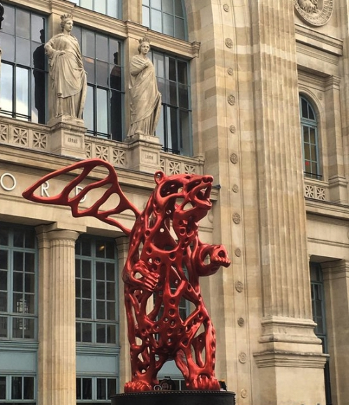 sculpture,art,angel-bear,richard-texier,gare-du-nord,cop-21,