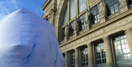 sculpture,art,angel-bear,richard-texier,gare-du-nord,cop-21