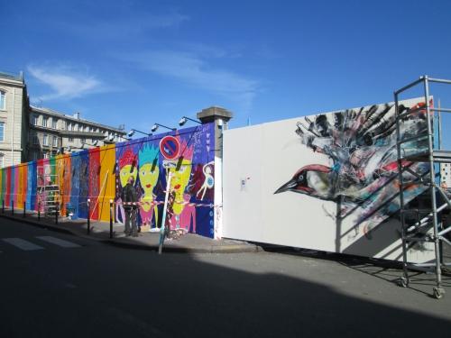 rue d'alsace, gare de l'est, street art