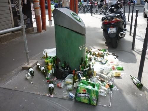 paris,Barbès,colonne-verre,propreté