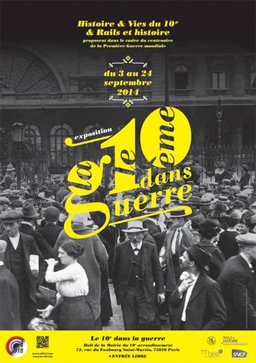 h&v-du-10e,rails-et-histoire,ahicf,mairie-du-10e,exposition-photos,centenaire-1914-1918,grande-guerre,guerre-14-18,gare-de-l-est,gare-du-nord