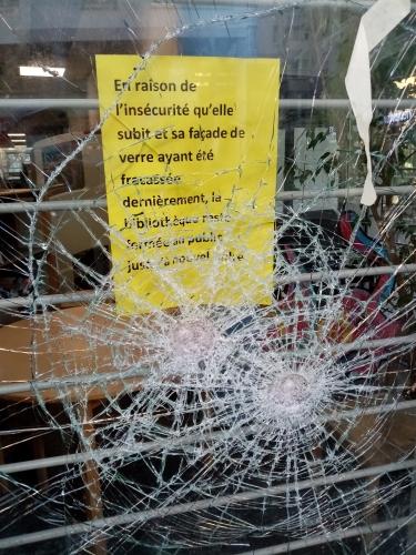 sécurité,bibliothèque-de-goutte-d-or,18e,vandalisme
