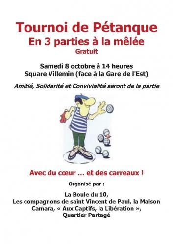 Paris, paris 10e, square Villemin, quartier partagé