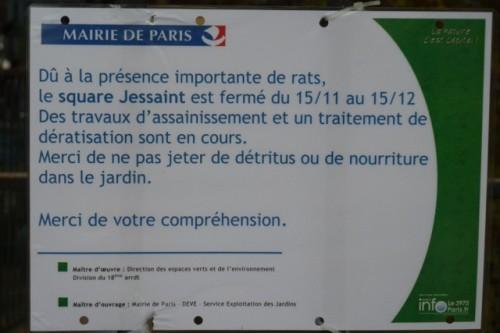 paris,square-jessaint,place-de-la-chapelle,rats,dératisation,DEVE