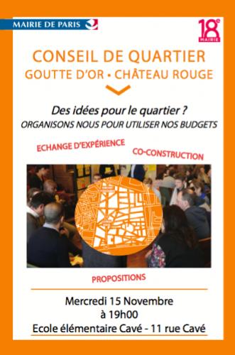 paris,paris 18e,goutte d'or,conseil de quartier,budget-participatif