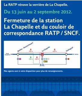 paris,chapelle,métro,Ligne2,travaux,verrière,fermeture