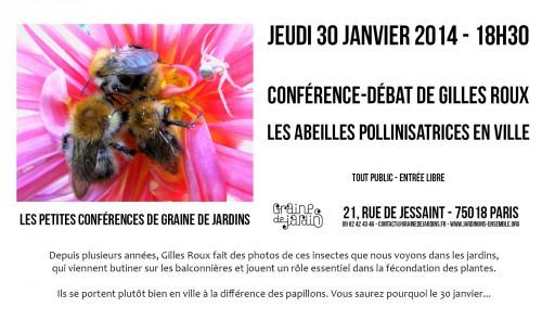 paris,18e,conférence,gilles-roux,abeilles,pollinisation