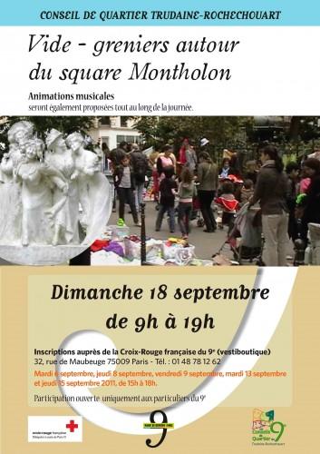 paris, 9e, square-montholon, vide-grenier