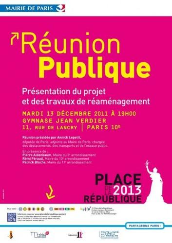 paris,république,réaménagement,réunion-publique,gymnase-jean-verdier,annick-lepetit,pierre-aidenbaum,rémi-féraud,patrick-bloche