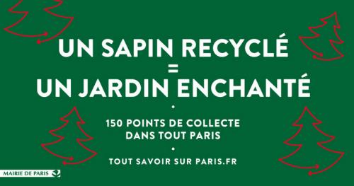 paris,paris 10e,paris 18e,paris 9e,recyclage,sapins de noel