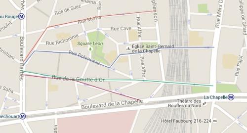 paris,18e,gourre-d'-or,circualtion,zone-30,itinéraire-malin,prévention