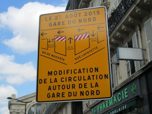 paris,paris 10e,gare-du-nord,sncf,rue-de-dunkerque,voirie,circulation